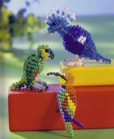 Попугай из для плетения